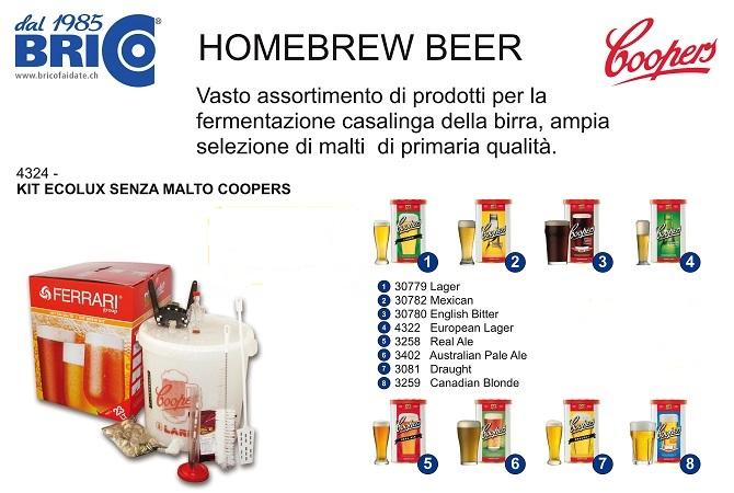 Kit birra fatta in casa home brew