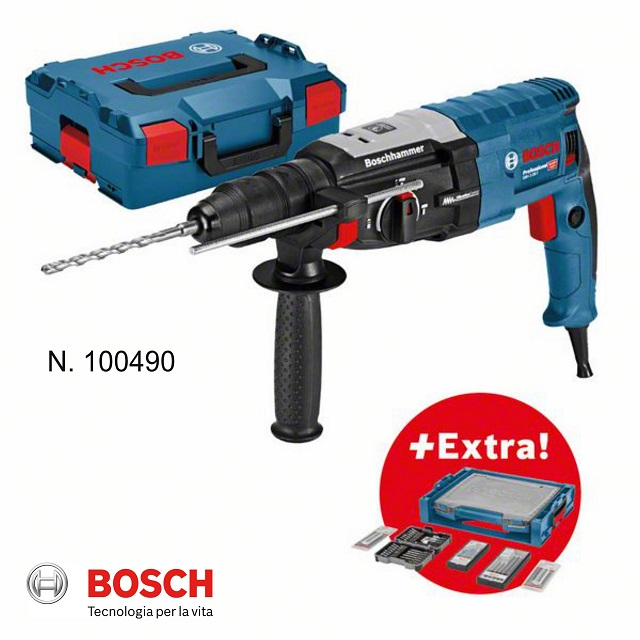 Bosch Professional Set: martello perforatore GBH 2-28 F in valigetta L-BOXX + set di accessori da 68 pz. in valigetta i-BOXX + i-Rack