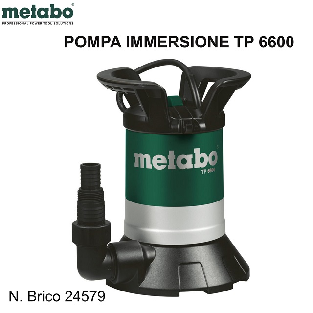 Metabo TP 6600 POMPA SOMMERSA PER ACQUE CHIARE
