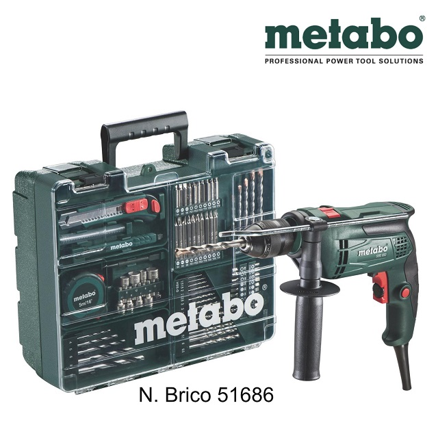 Metabo trapano a percussione SBE 650 promo kit accessori